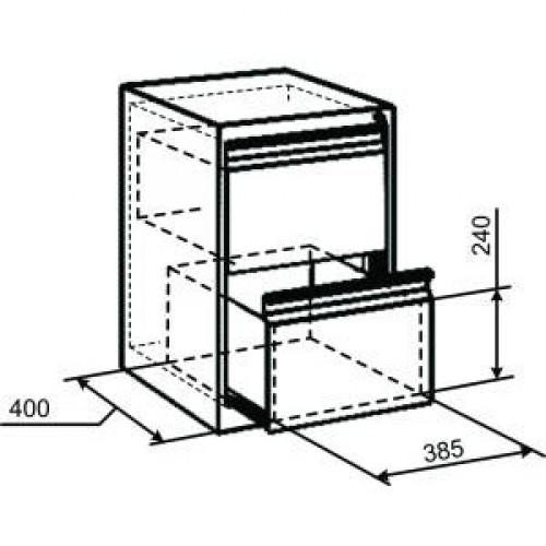 Картотечный шкаф ТК2Фт
