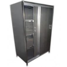 Шкаф из нержавеющей стали с дверями купе